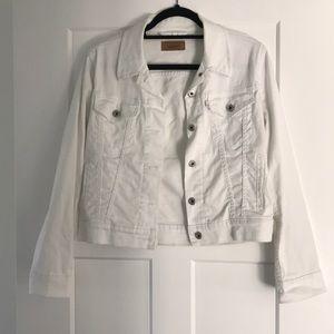 Levi's Trucker Jean Jacket, white, size medium